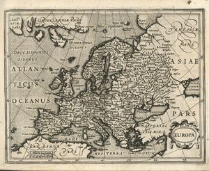 17th century map Renaissance Europe fine art reproduction