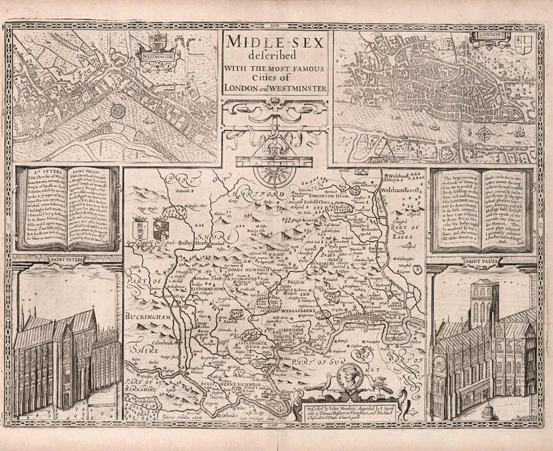 historical map of London from 17th century