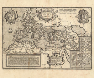 fine art Renaissance map of Roman empire 17th century