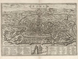 historical map Rome 16th century