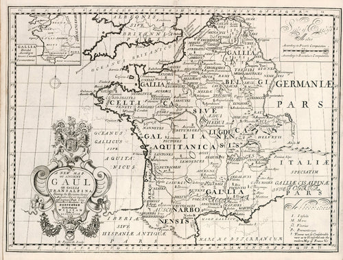 historical map of France from 18th century