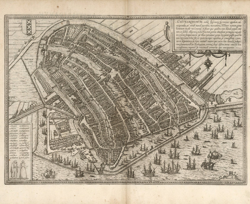 historical city map Amsterdam 16th century
