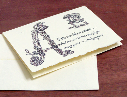 As You Like It Jacques soliloquy note card
