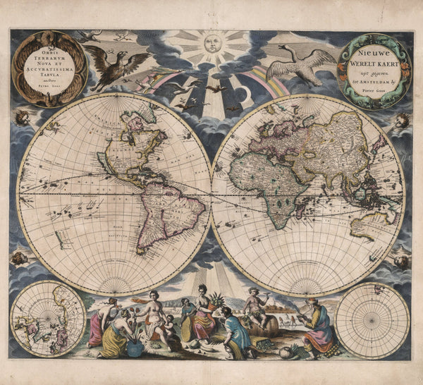 historical world map 17th century