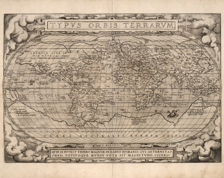 Historical Arctic Ocean Nautical Chart, 17th Century Map Fine Art Reproduction MP044