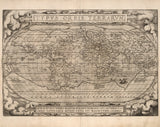 historical map of world 16th century