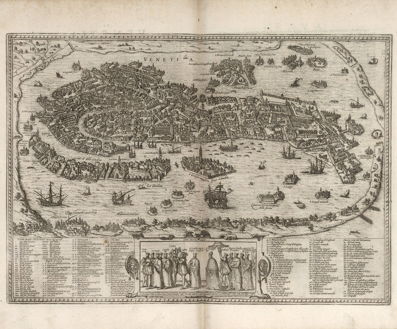 city map Venice 16th century