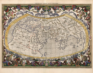 world map in color historical 17th century Europe Asia Africa