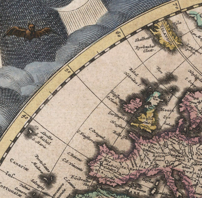 Historical maps from the renaissance arteofthebooke world map detail of europe with place names gumiabroncs Gallery