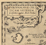 map detail inscription latin words Renaissance Europe