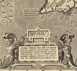 Spanish map inscription