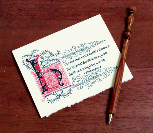 little candle thank you card Shakespeare literary quote