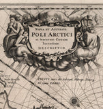 detail arctic nautical chart poli arctici inscription