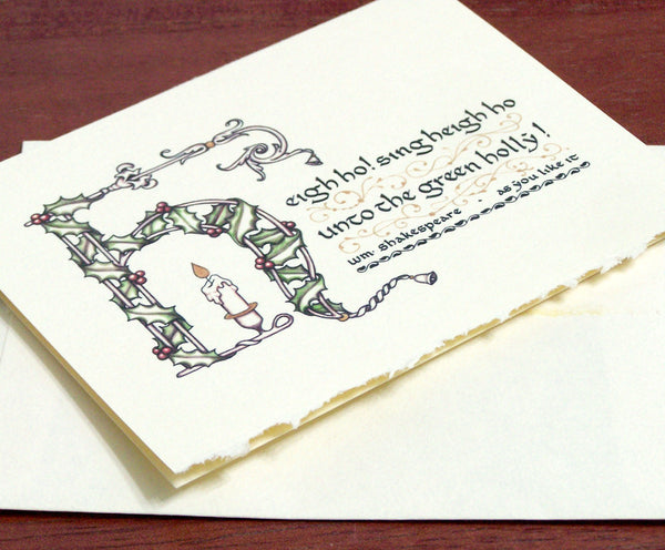 image detail Shakespeare quote calligraphy note card holiday