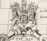 heraldic detail 18th century map