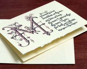 Romeo and Juliet romantic quote calligraphy card valentine's day