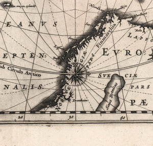 arctic nautical chart windrose detail