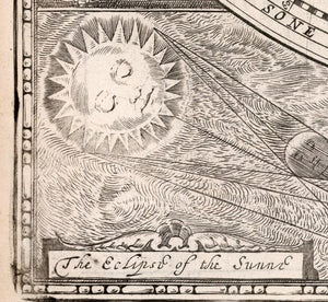 fine art print detail celestial and world map eclipse