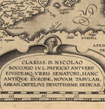 map detail Mediterranean strait of Gibraltar and inscription