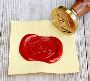 D20 Dice Wax Seal Stamp for RPG, LARP, and DND Props and Gifts