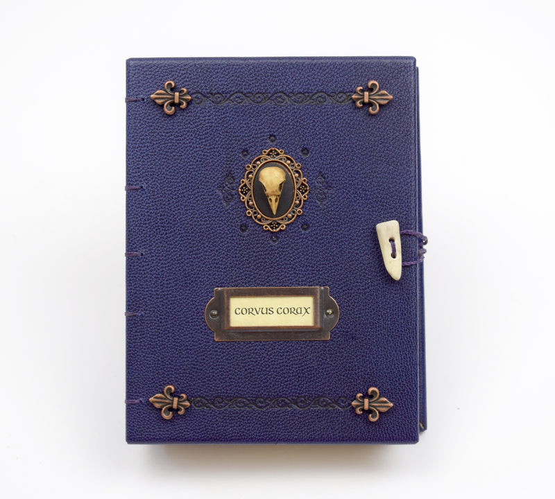 Purple Raven Journal with Coptic Binding