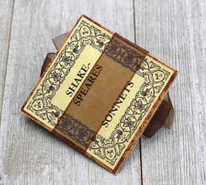Vintage-Style Valentine Card Folding Puzzle with Shakespeare Twist