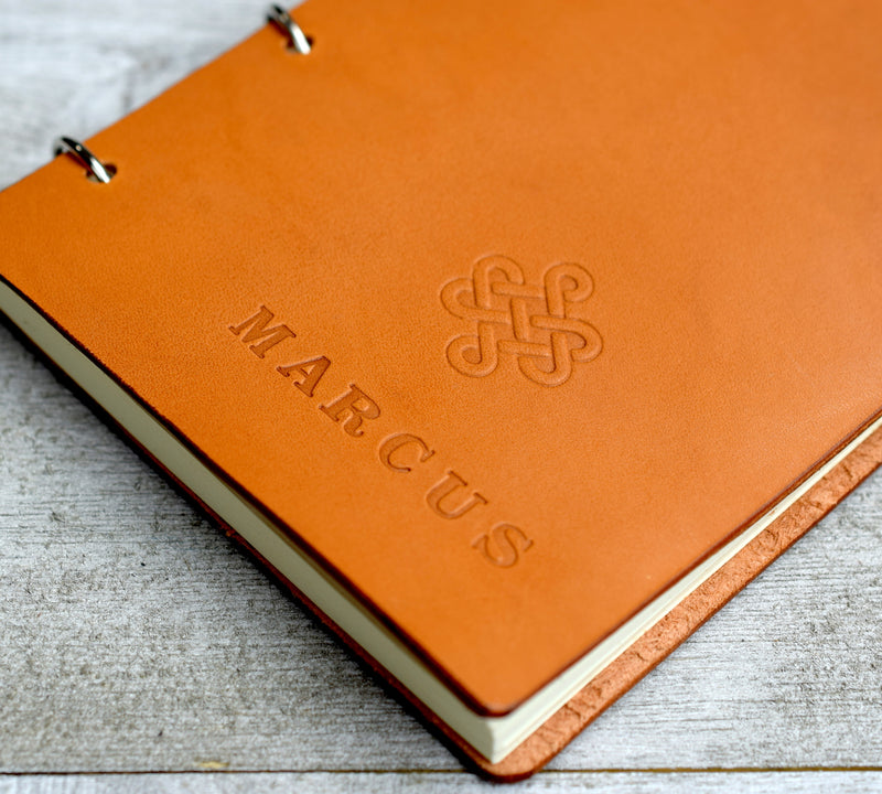 Personalized A6 Refillable Leather Notebook