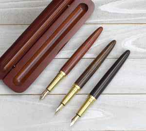 Classic Wood Fountain Pen and Case
