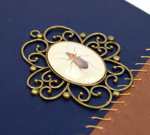 Hardback Leather Book with Insects