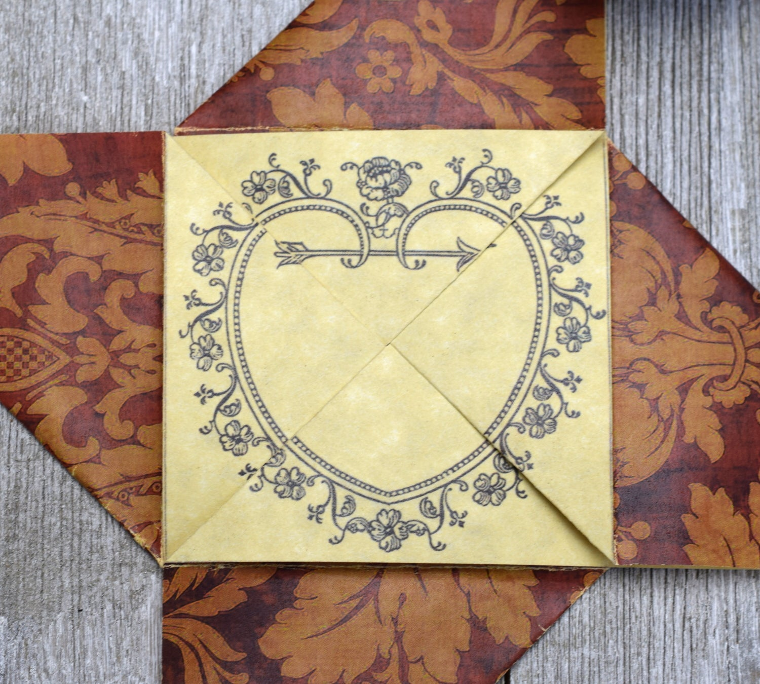 Vintage-Style Valentine Card Folding Puzzle with ...