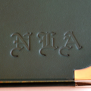 custom initials leather tooling