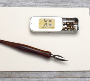 Wide Calligraphy Nibs, Set of 3, with Broad Tips