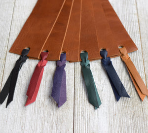 large leather bookmark