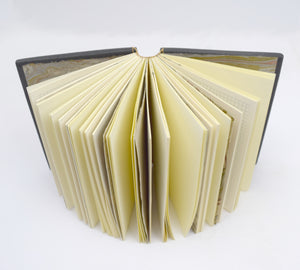 Cream and Gray Leather with Coptic Binding