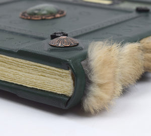 Large Hardback Grimoire with Fur Spine