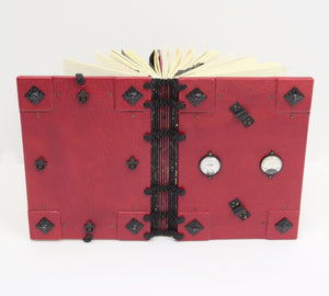 Steampunk Gothic Leather Book // Hardcover Journal