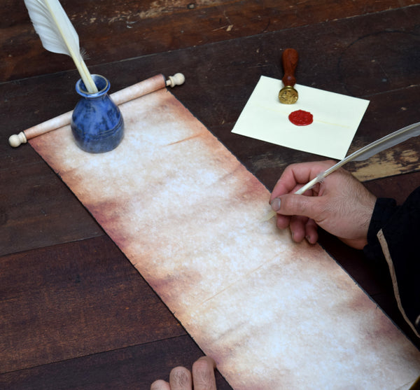 Sorcerer's Scroll : Old Paper Scroll on Wood Rods