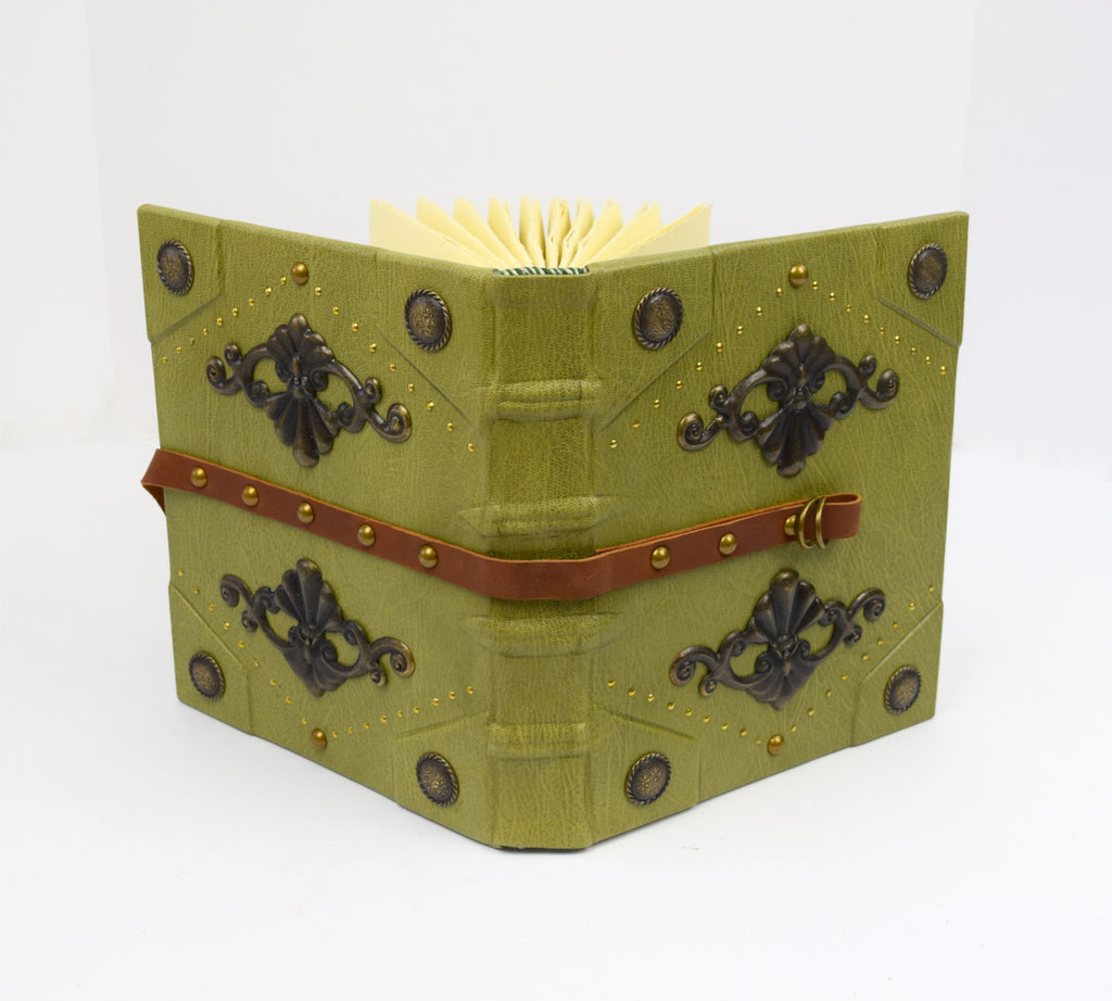 Large Green Leather Grimoire