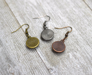 Sherlock Holmes and Watson Earrings, Famous Pairs Literary Jewelry