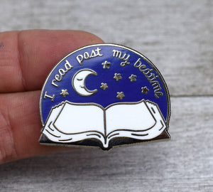 Read Past Bedtime Enamel Pin
