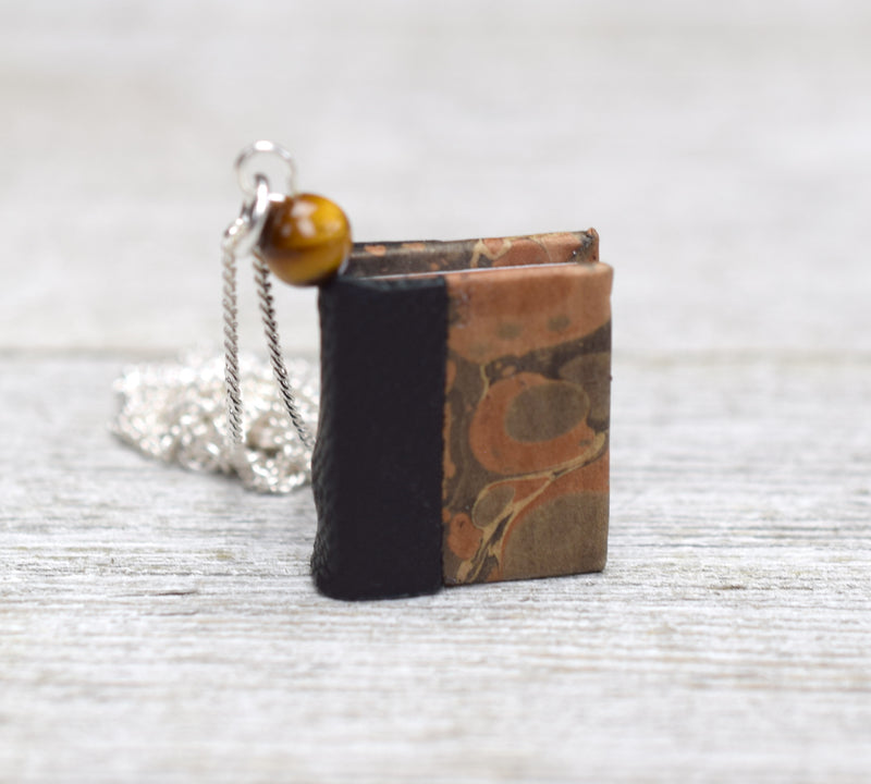 Classic Black Miniature Book Necklace