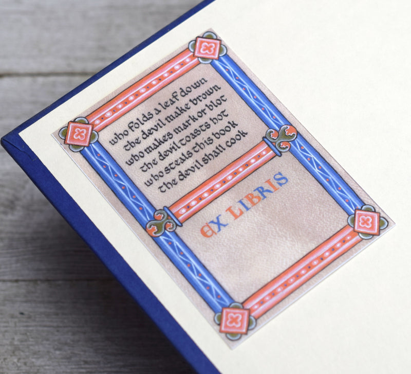 Medieval Book Plates: Manuscript Book Curses, Set of 24 Self-Adhesive Labels