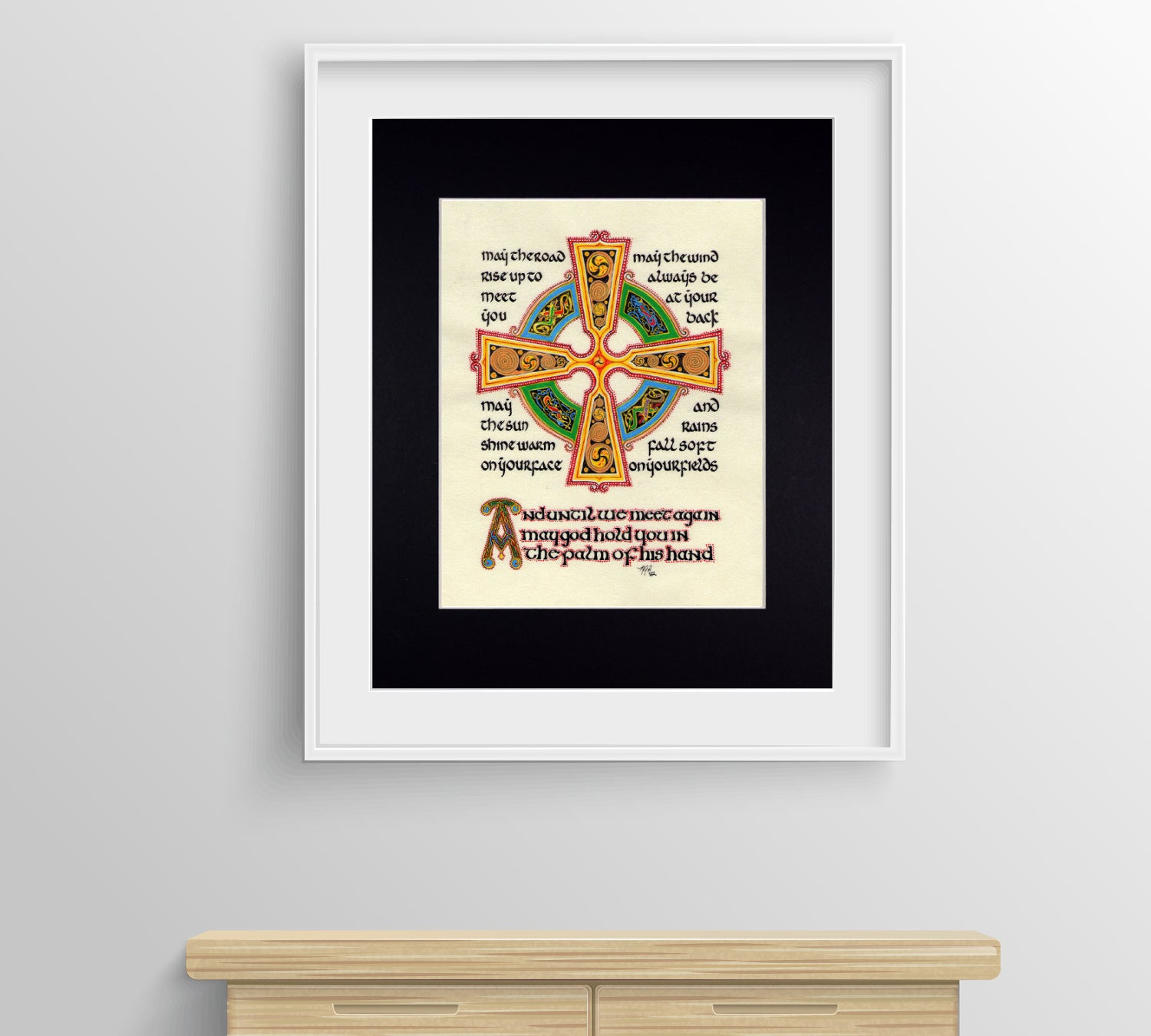 Incredible Irish Blessing Fine Art Print May The Road Rise Up To Meet You Bralicious Painted Fabric Chair Ideas Braliciousco