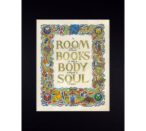 room without books art print