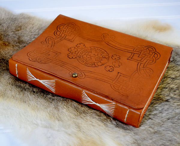 Celtic wedding guest book cover design