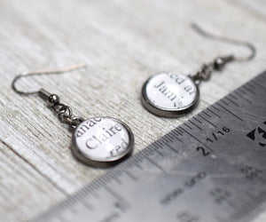 Claire and Jamie Fraser Earrings, Famous Pairs Literary Jewelry