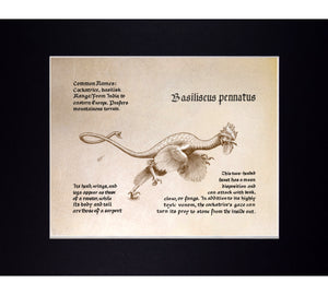 Mythological Beasts: Cockatrice or Basilisk Fine Art Print