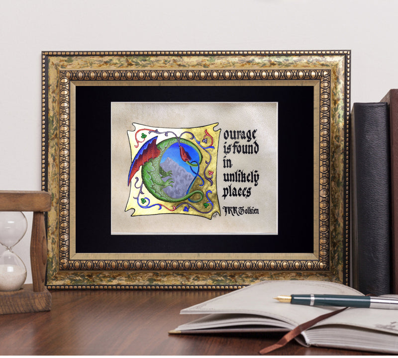 J R R Tolkien quote in frame