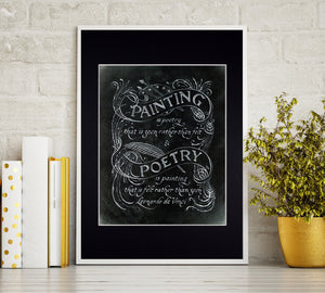 da vinci quote in frame