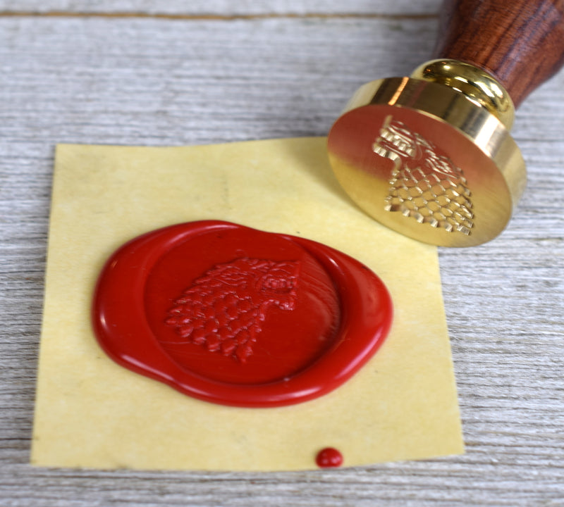 direwolf sealing wax stamp